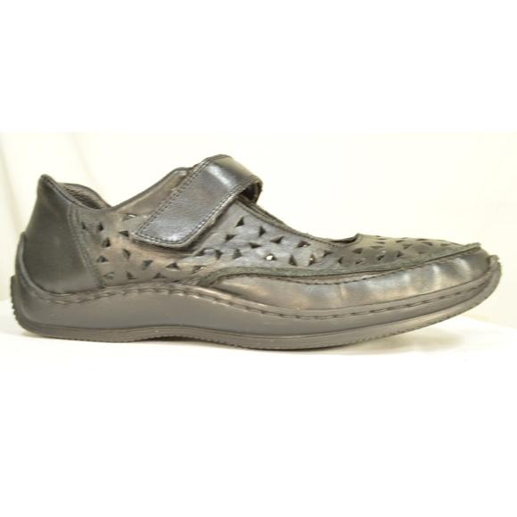 Rieker Shoes - Rieker shoes Mary Janes 9.5 or 10 EU 40 black leat
